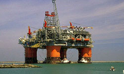 Caspian Sea semi-submersible oil rig, Iran-Alborz